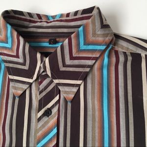 Ben Sherman Men's striped Long Sleeve Button Up L